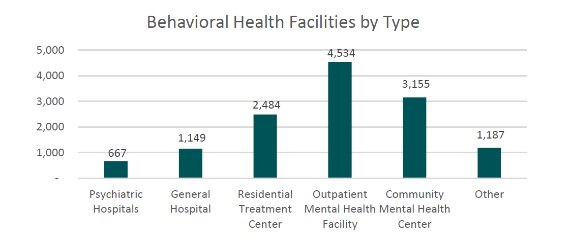 Behavioral Health Facilities by Type