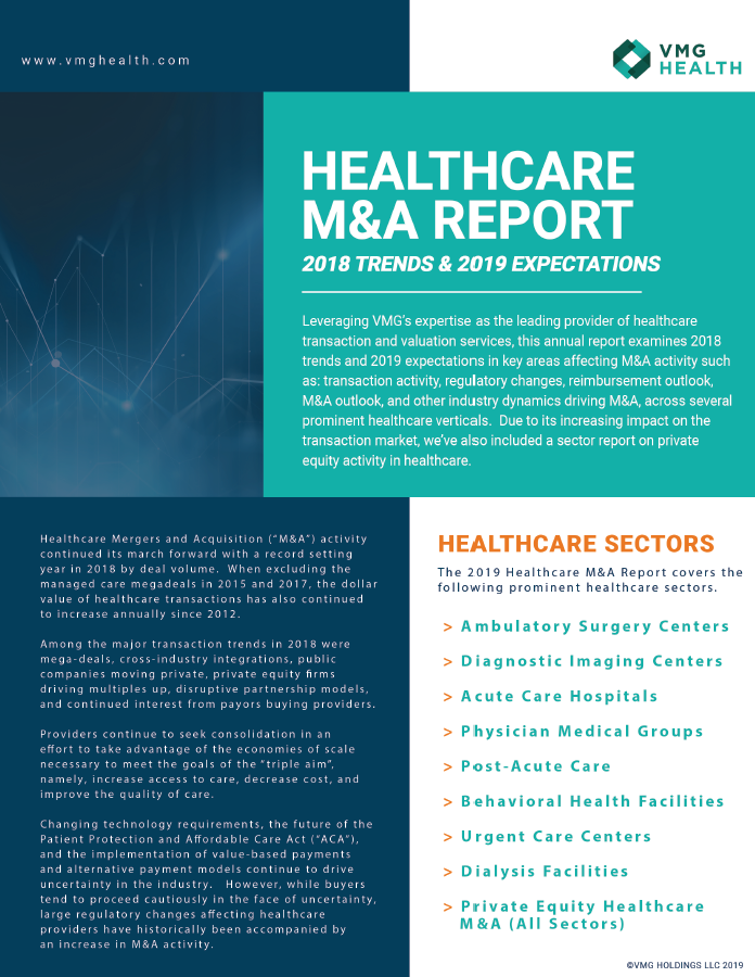 Healthcare M&A Report: 2018 Trends & 2019 Expectations